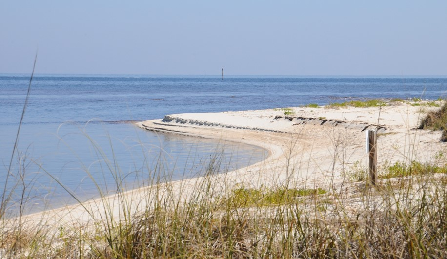 Photo of Gulf shoreline with beach.