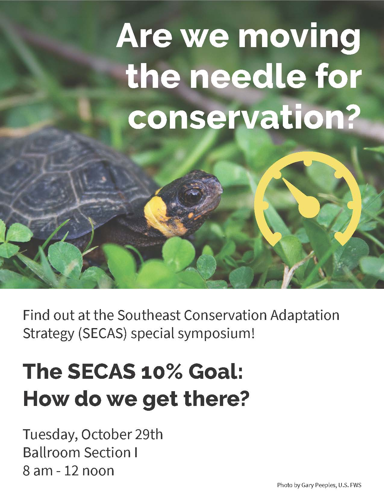 Flyer for SECAS symposium at 2019 SEAFWA annual meeting.
