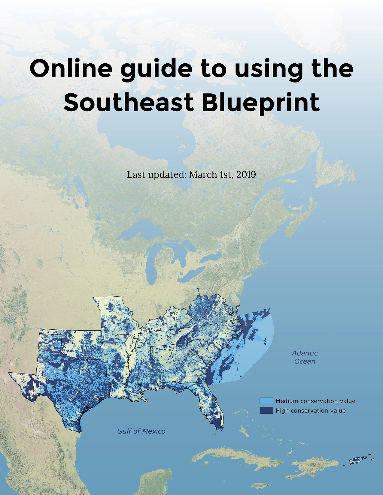 Cover of Online Guide to Using the Southeast Blueprint.