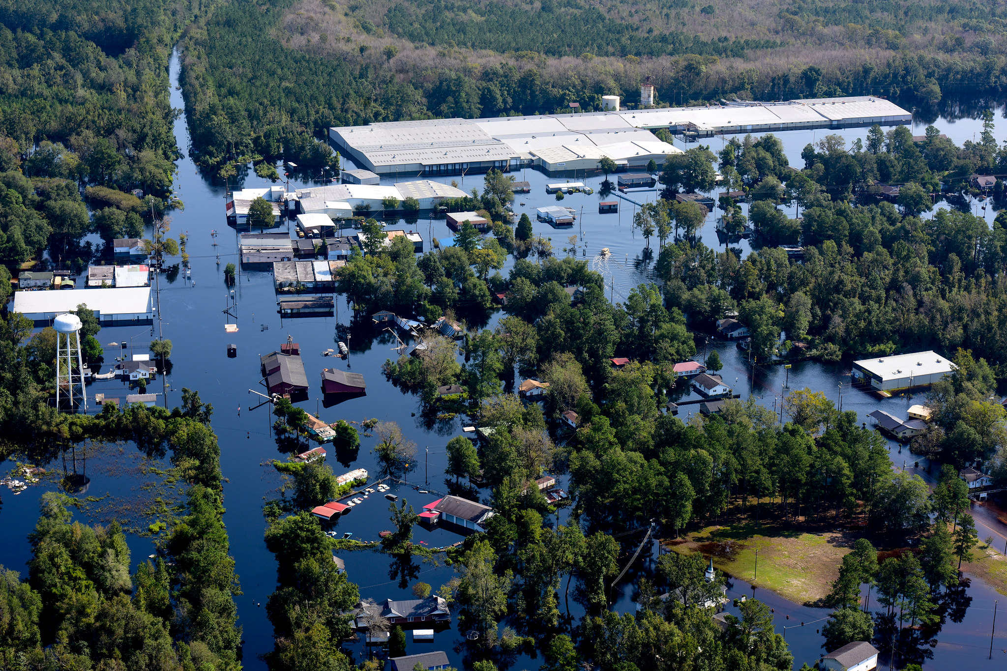 Aerial photos of flooding caused by Hurricane Florence.